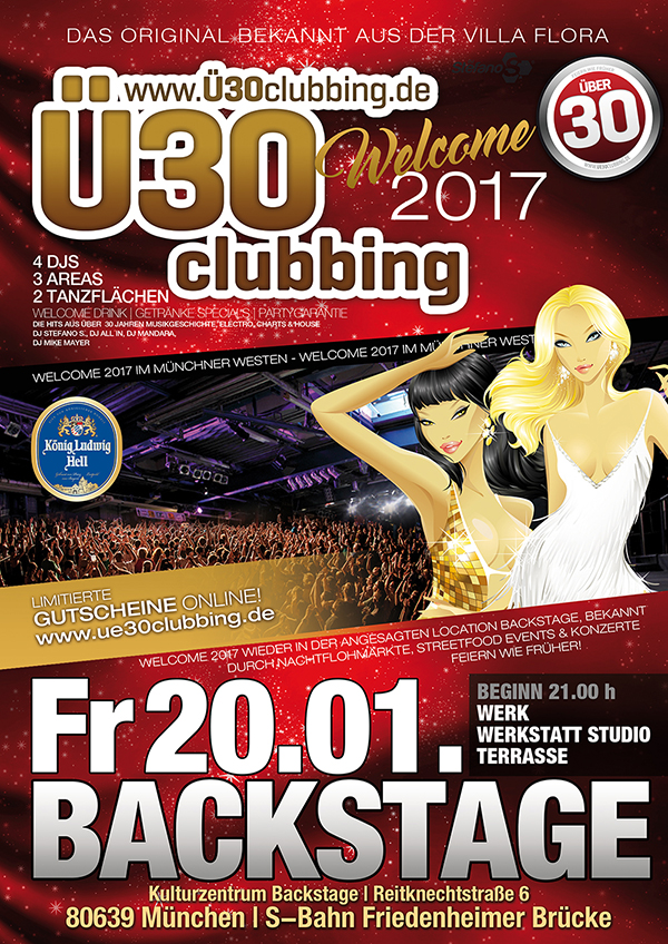 Ü30 Clubbing -Welcome 2017 // FR 20.01.2017 // BACKSTAGE